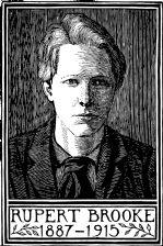 wood-engraving of Portrait of Rupert Brooke 1 (Giclée only)